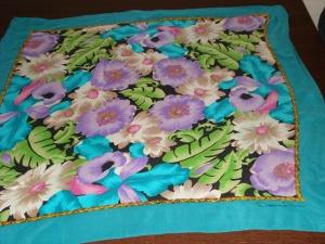 Blue, teal, green and violet Oscar de la Renta. Provenance: Estate of S. Nancy Castel