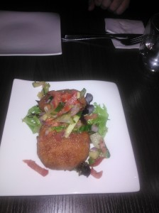 Yummy crabcakes.